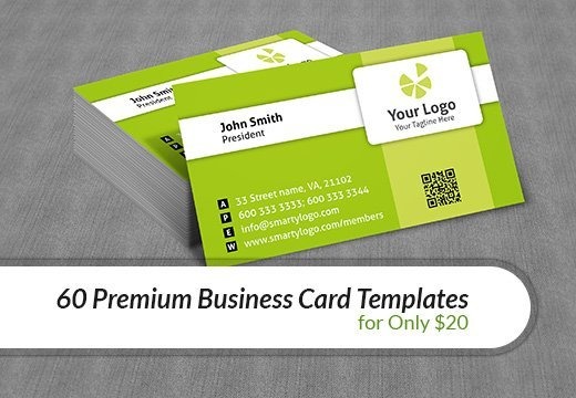 60 premium business card templates for only 20 inkydeals 60 premium business card templates wajeb Images