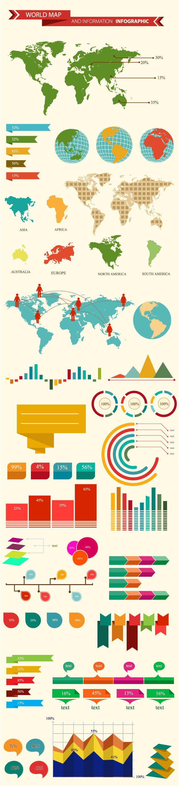 The super premium infographics bundle for a smooth communication world map and information infographic vector gumiabroncs Image collections