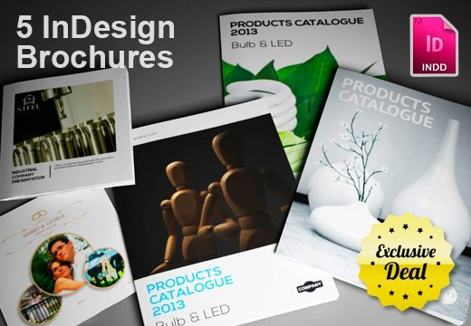 Get 5 InDesign Brochure Templates + Bonus for Only $24 | InkyDeals