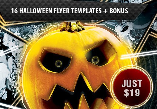 16 top notch halloween flyer templates 8 extra posters mockups