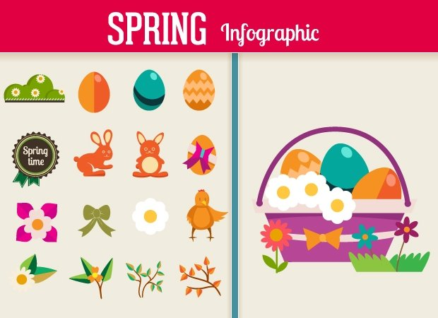 spring-flat-vector-elements-small