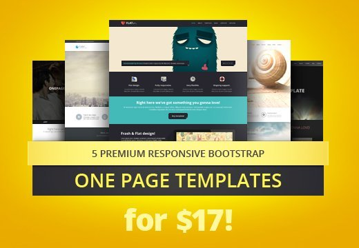5 Top-Quality One Page Parallax Bootstrap Templates + PSDs – Only ...