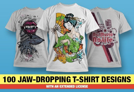 b557fa0d1e1 Get 100 Jaw-Dropping T-shirt Designs for Only $69