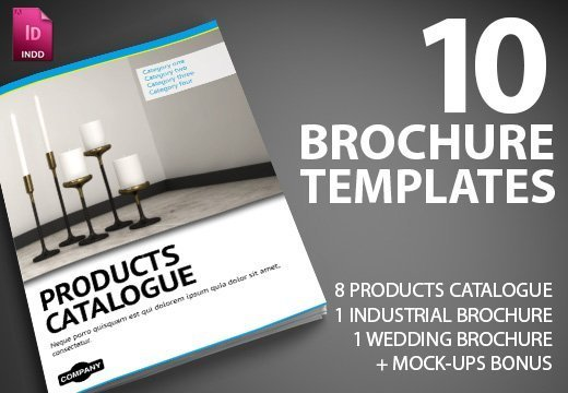 10 premium indesign brochure templates with commercial license