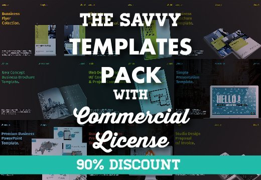 The Savvy Templates Pack With Commercial License Only 14 Inkydeals