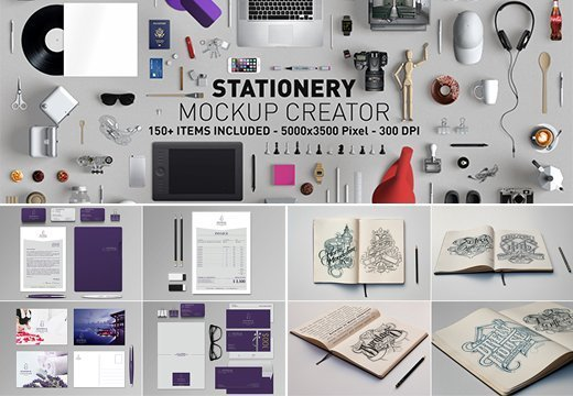 hero stationery mockup creator with 150 items for only 25 inkydeals