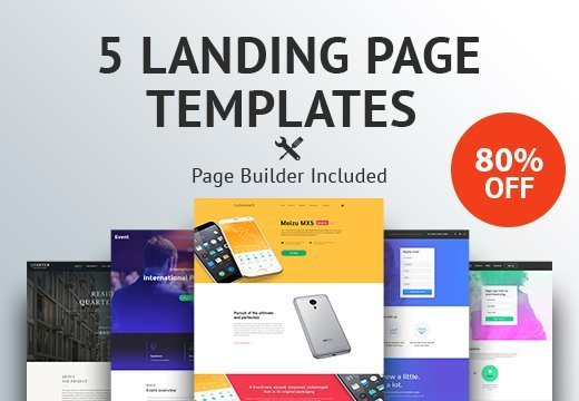 5 premium landing page templates for only 19 inkydeals 5 premium landing page templates for only 19 maxwellsz