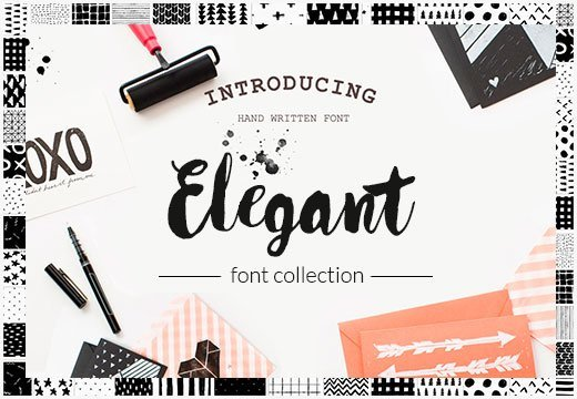 Elegant Font Collection+ Watercolor Sets - Only39