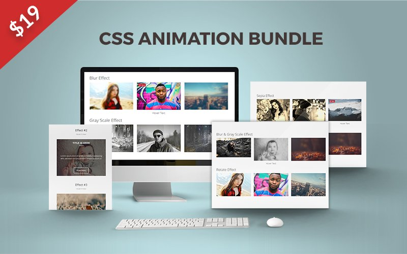 An Awesome Bundle Of 26 CSS Animations To Boost Your Website- Only $19
