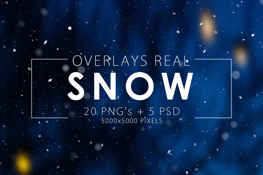 Real snow overlays